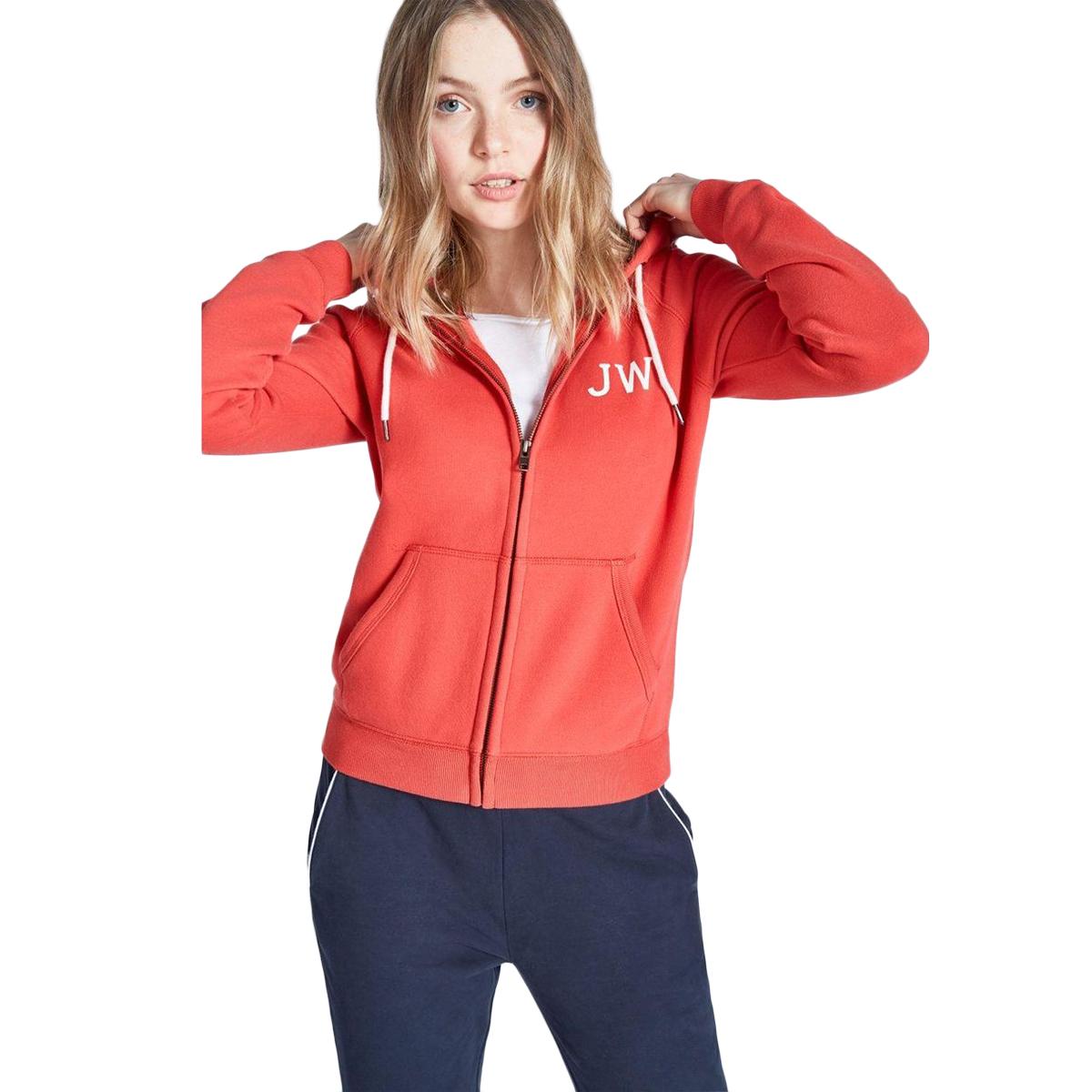 Jack Wills Women's Raynes Zip-Through Hoodie - Red, 6