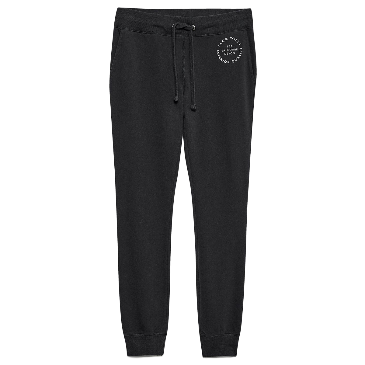 Jack Wills Women's Bakershill Slim Jogging Bottoms - Black, 4