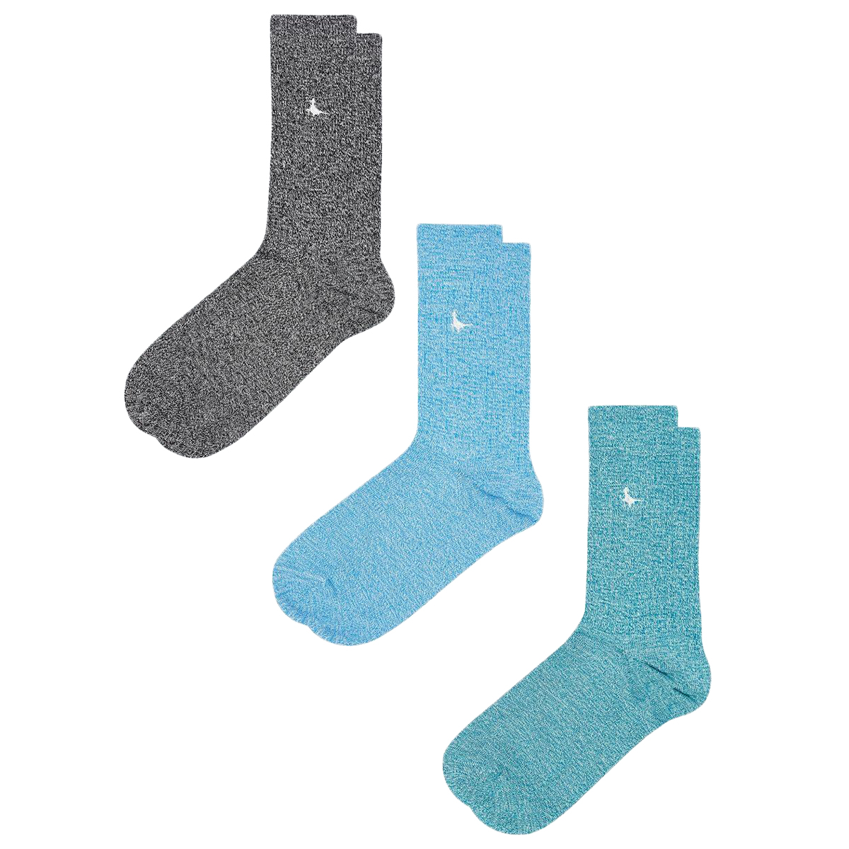 Jack Wills Men's Ringswell Ankle Socks, 3 Pack