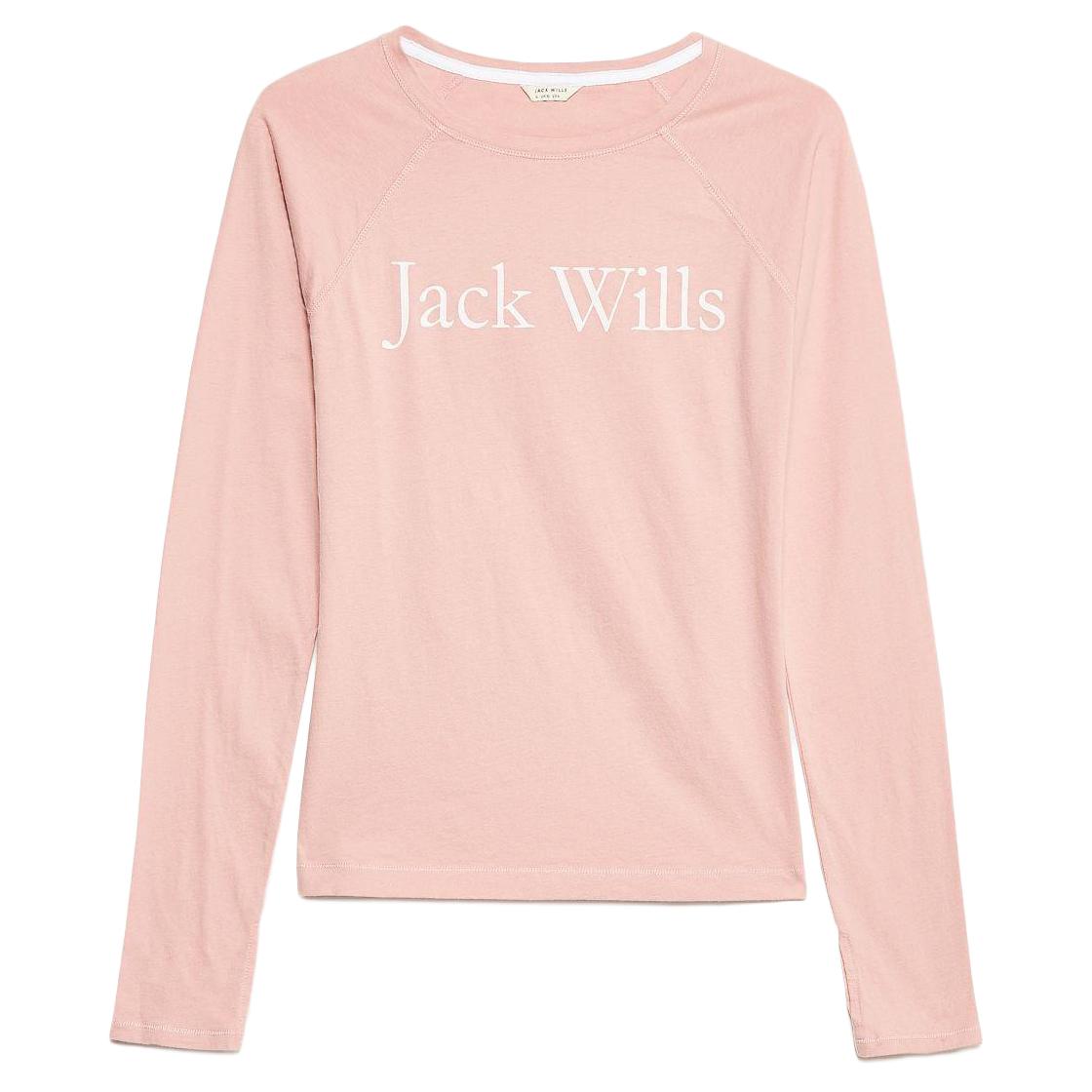 Jack Wills Women's Winstanley Heritage Long-Sleeve T-Shirt - Red, 14