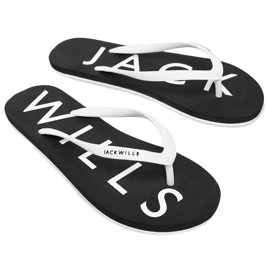 Jack Wills Women's Elland Flip Flops - Black, 7