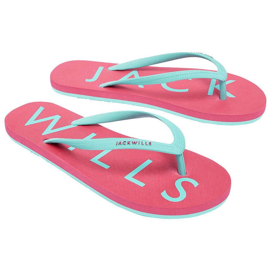 Jack Wills Women's Elland Flip Flops - Red, 7