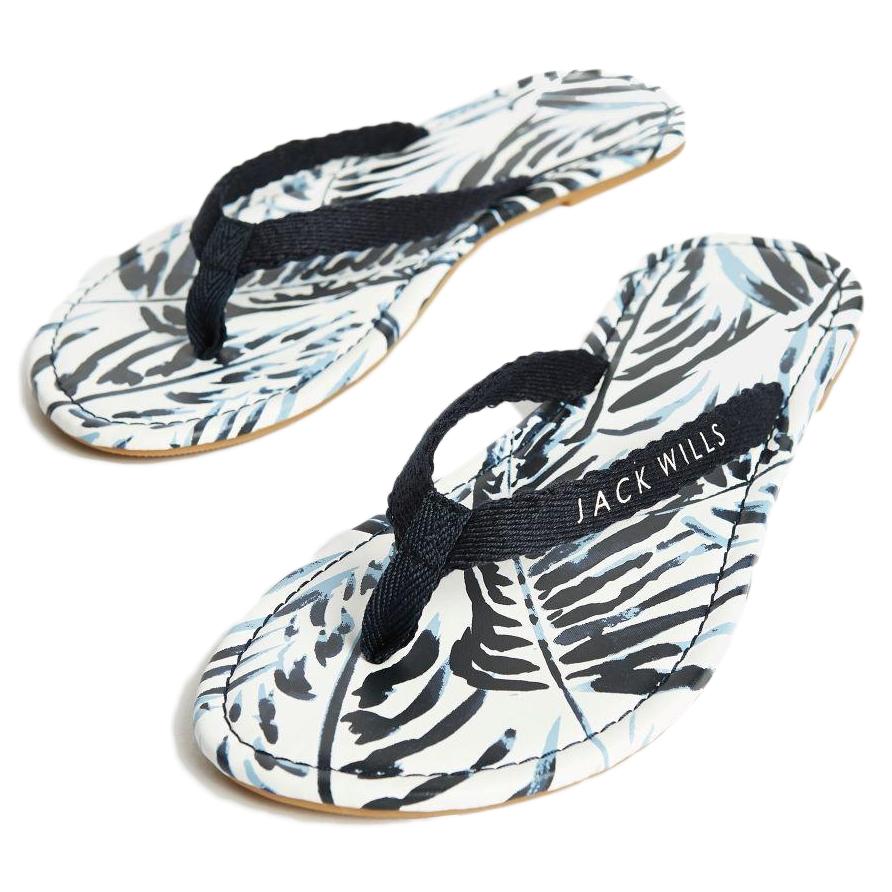 Jack Wills Women's Tilbury Woven Flip Flops - White, 8