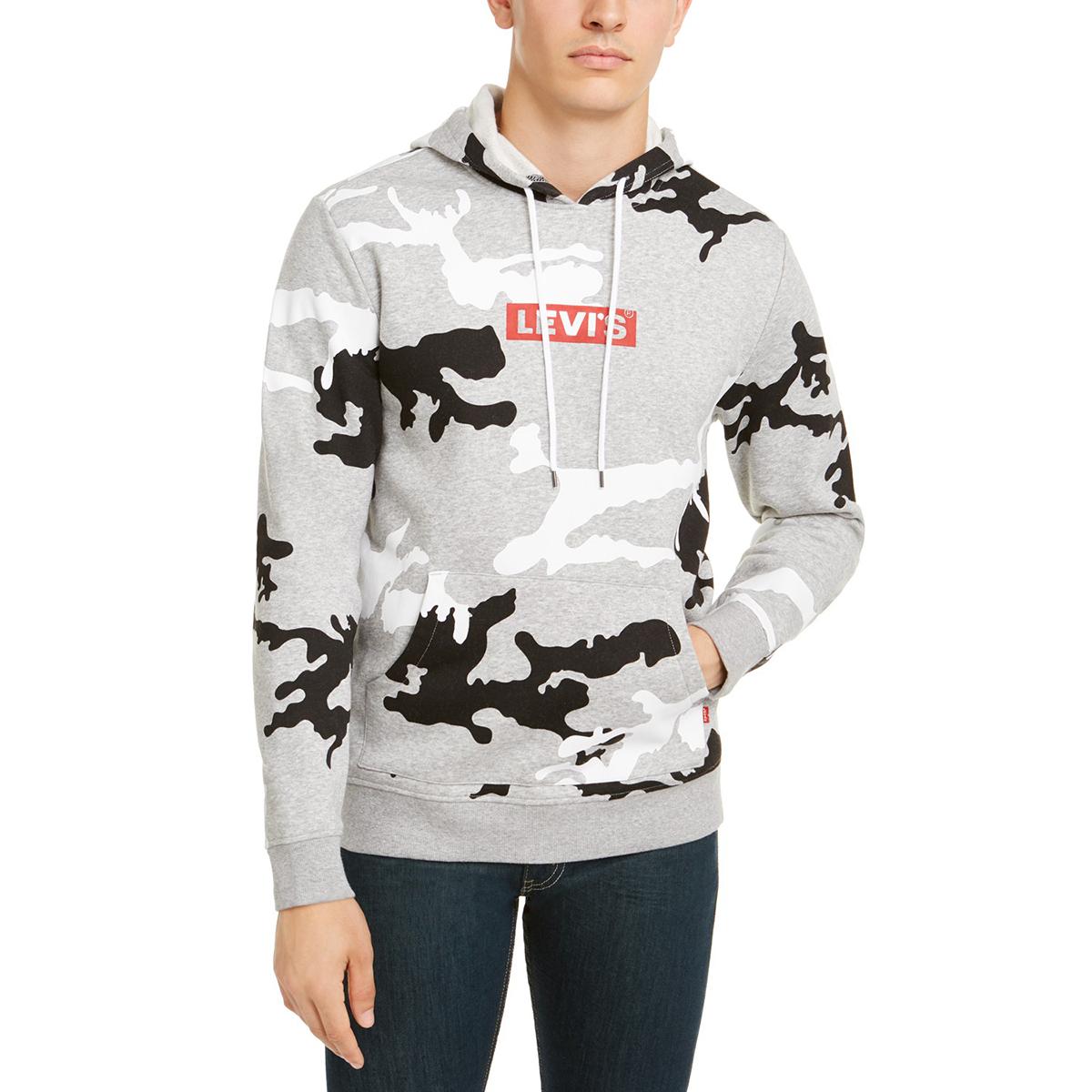 Levi's Men's Camouflage Fleece Hoodie - Black, S