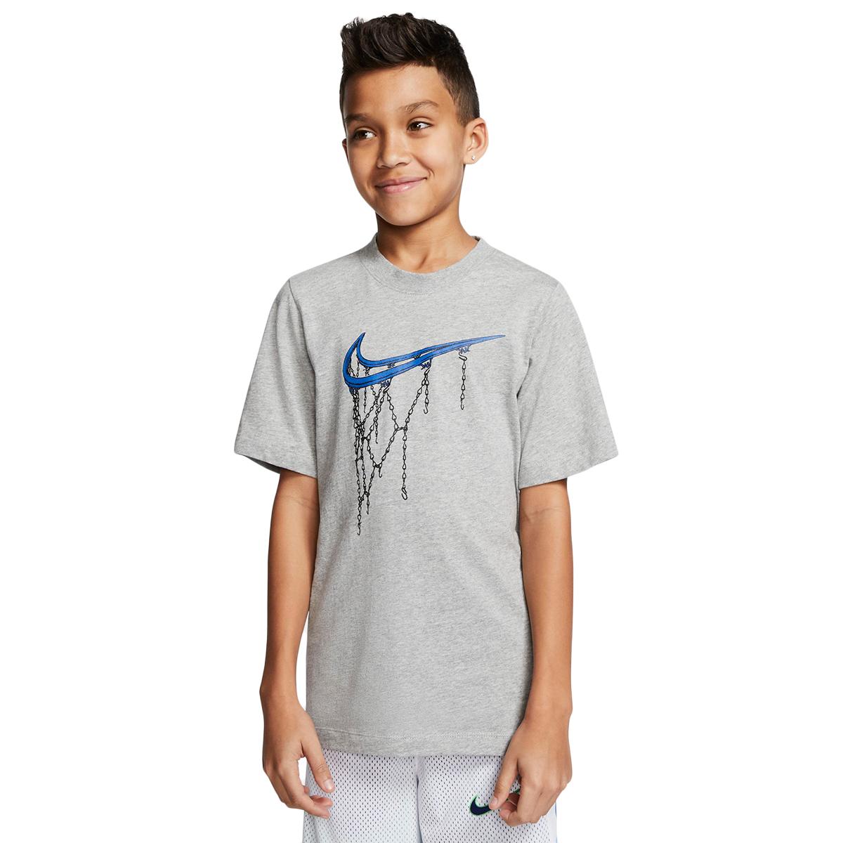Nike Boys' 8-20 Nsw Swoosh Rim Tee - Black, XL