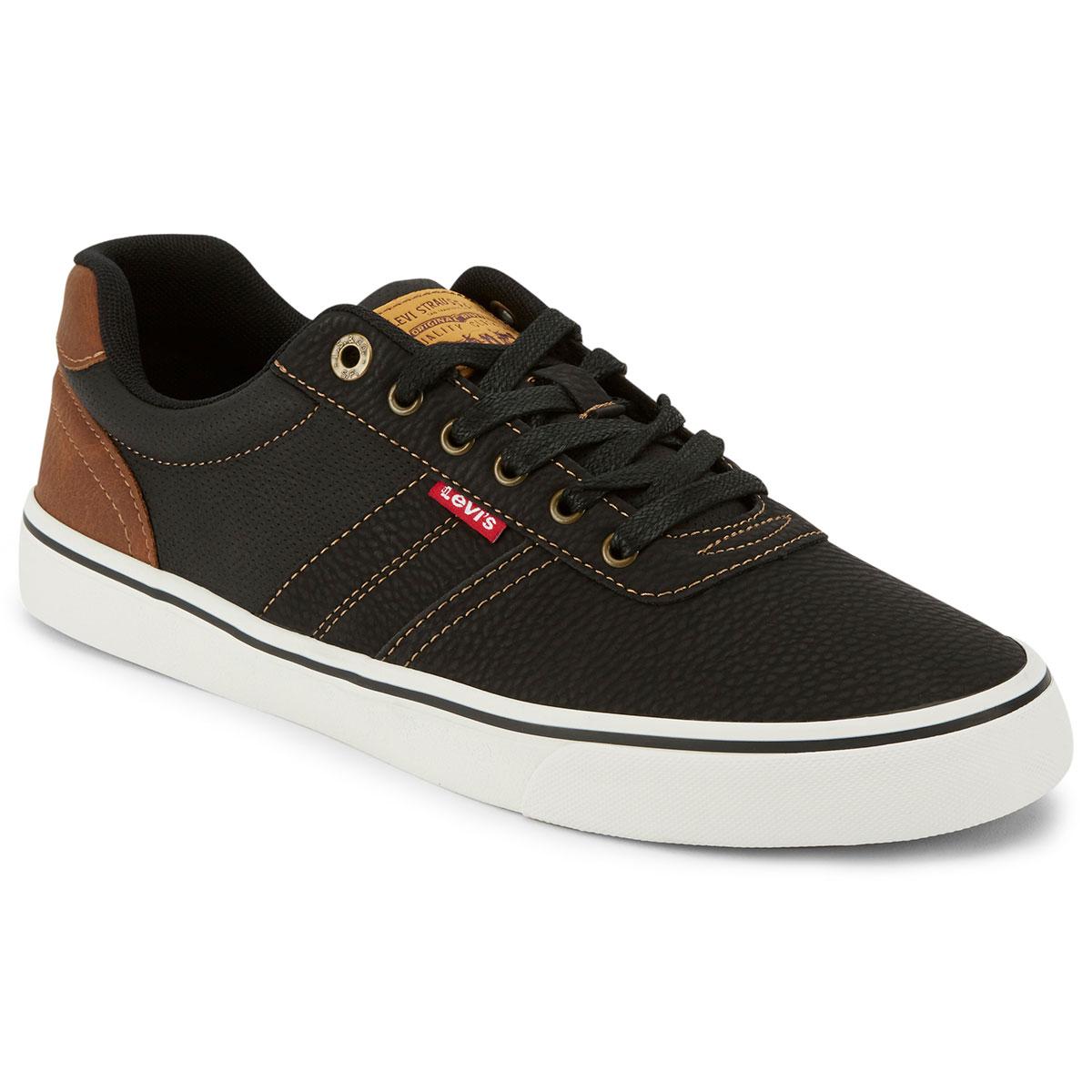 Levi's Men's Miles Tumbled Wx Sneaker - Black, 12