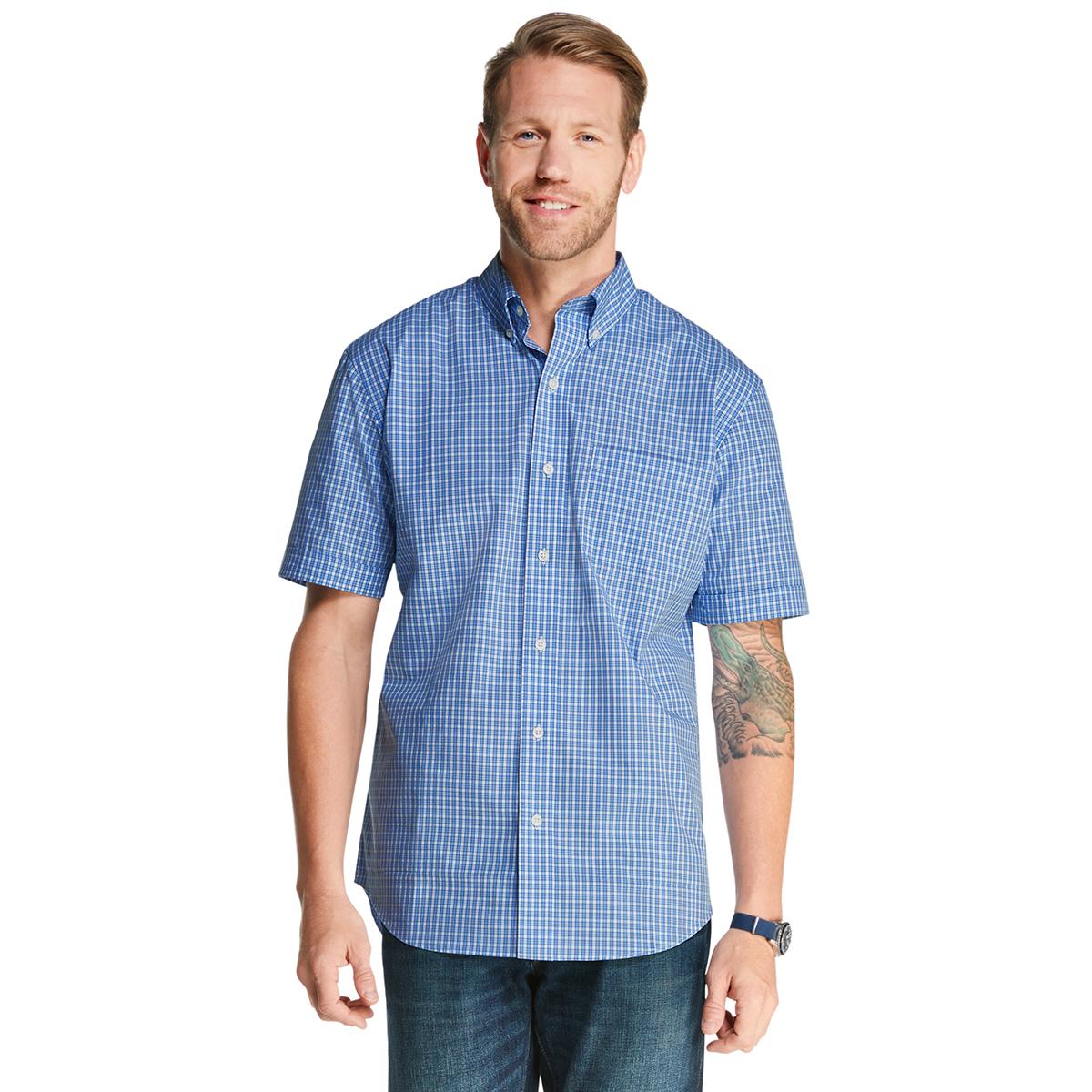 Arrow Men's Hamilton Poplin Button-Down Shirt - Blue, M