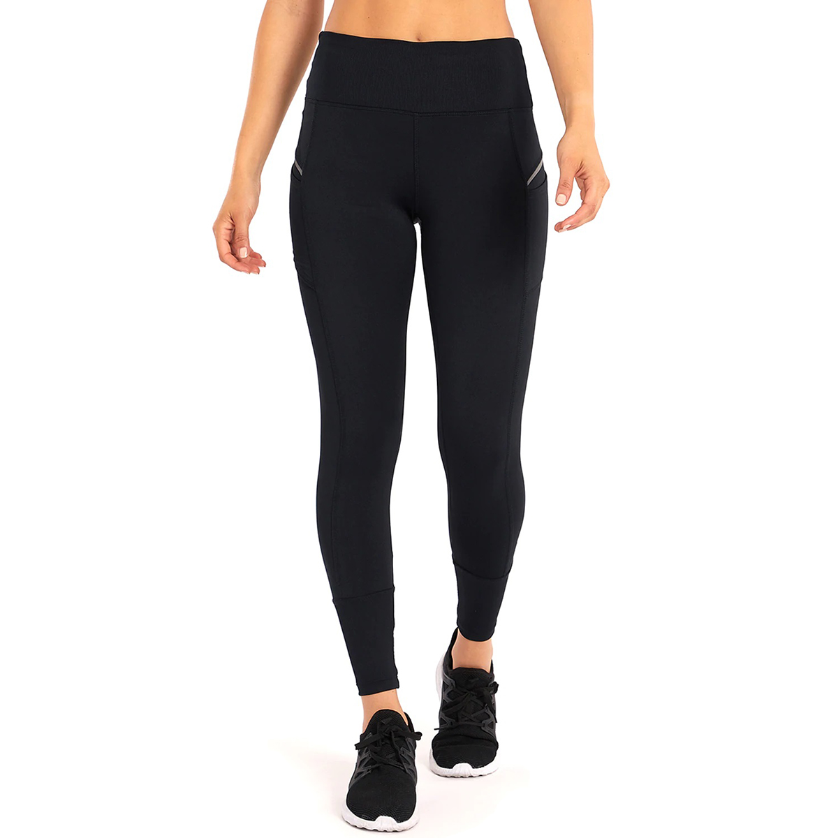 Marika Women's Jordan Ribbed-Trim Leggings - Black, XL