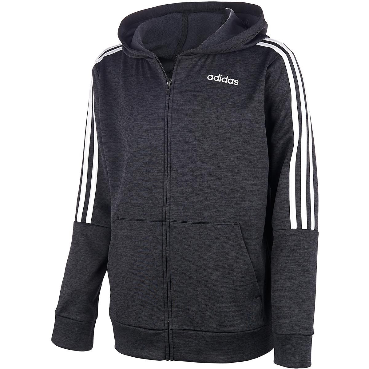 Adidas Boys' 8-20 Core Hooded Jacket - Black, M