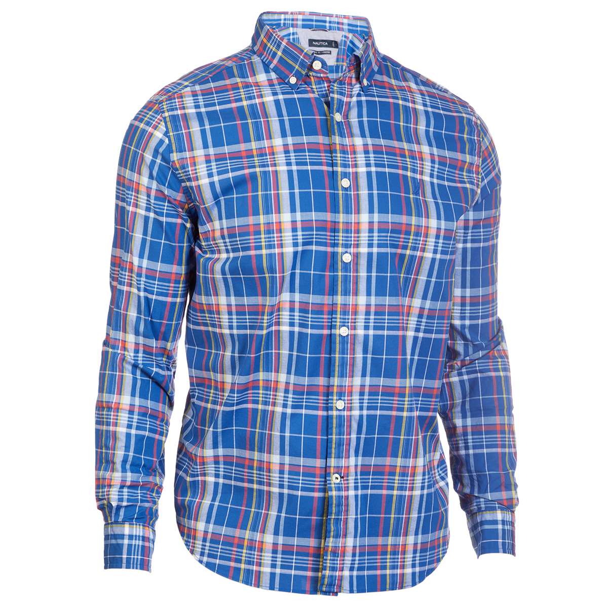 Nautica Men's Navtech Long-Sleeve Button Down Shirt - Blue, XL