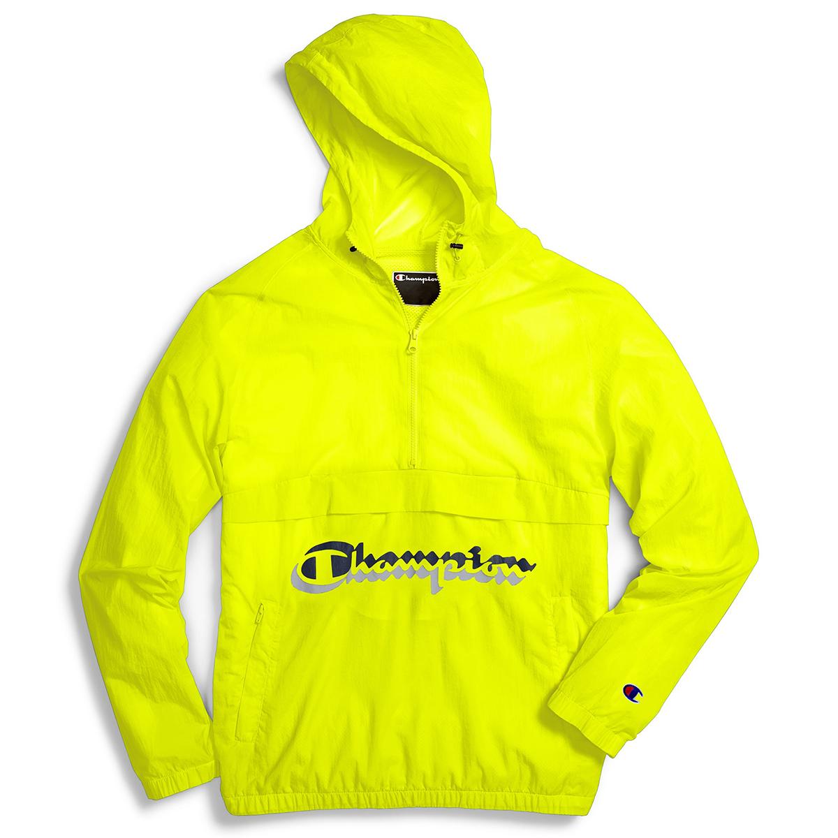 Champion Men's Packable Anorak Jacket - Yellow, M