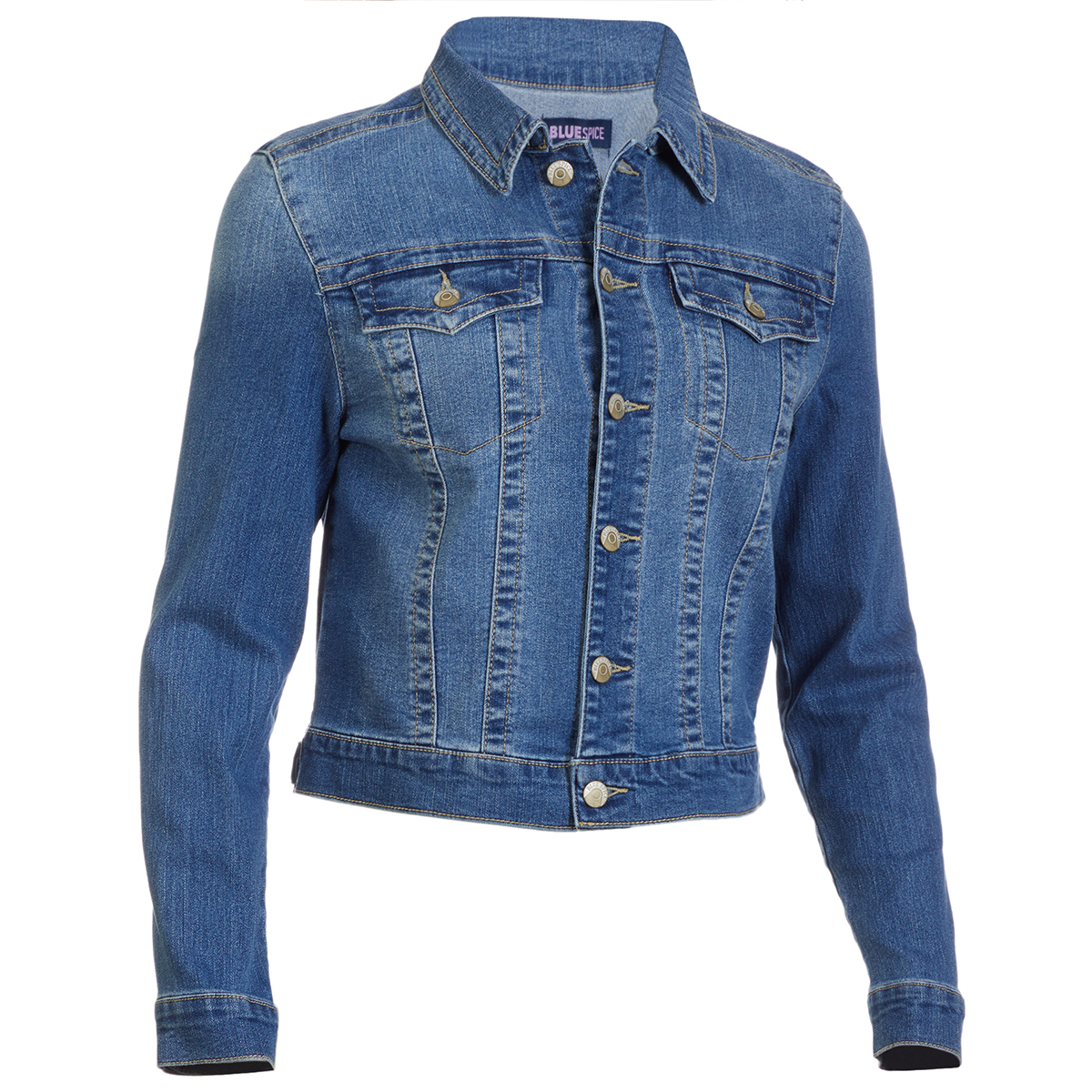 Blue Spice Juniors' Basic Denim Jacket