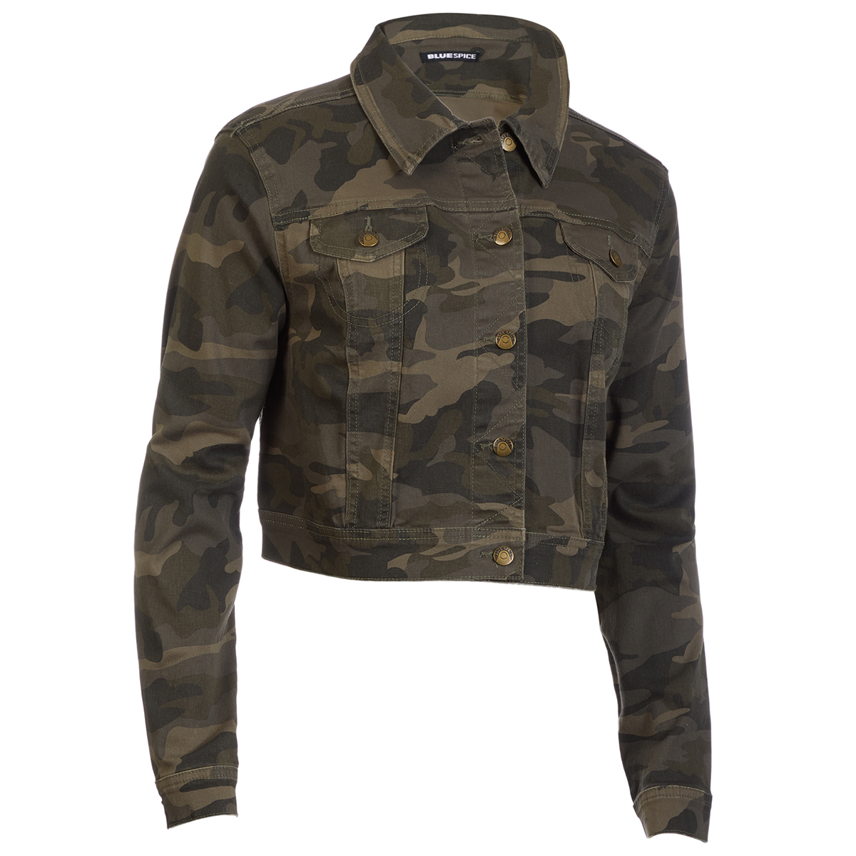 Blue Spice Juniors' Twill Camo Jacket