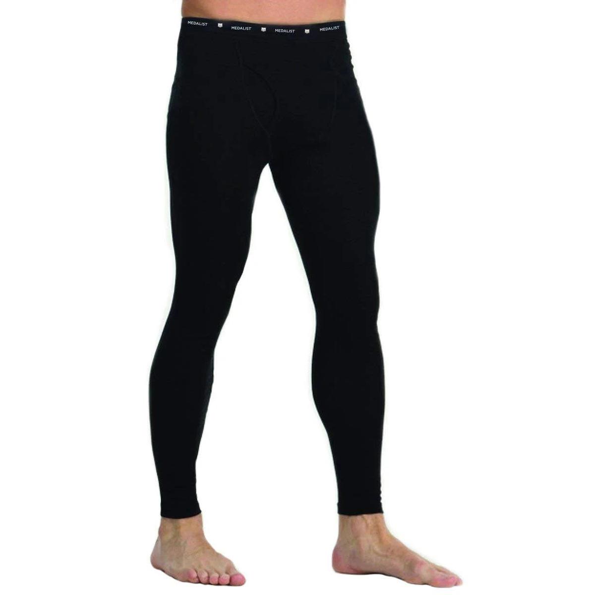 Medalist Men's Performance Fleece Base Layer Pants - Black, L