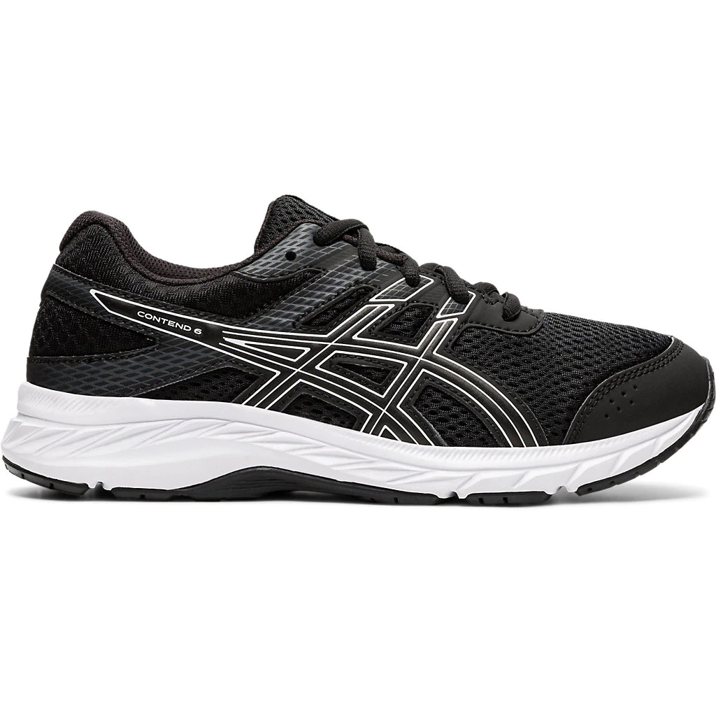 Asics Boys' Gel-Contend 6 Gs Running Shoe - Black, 3.5