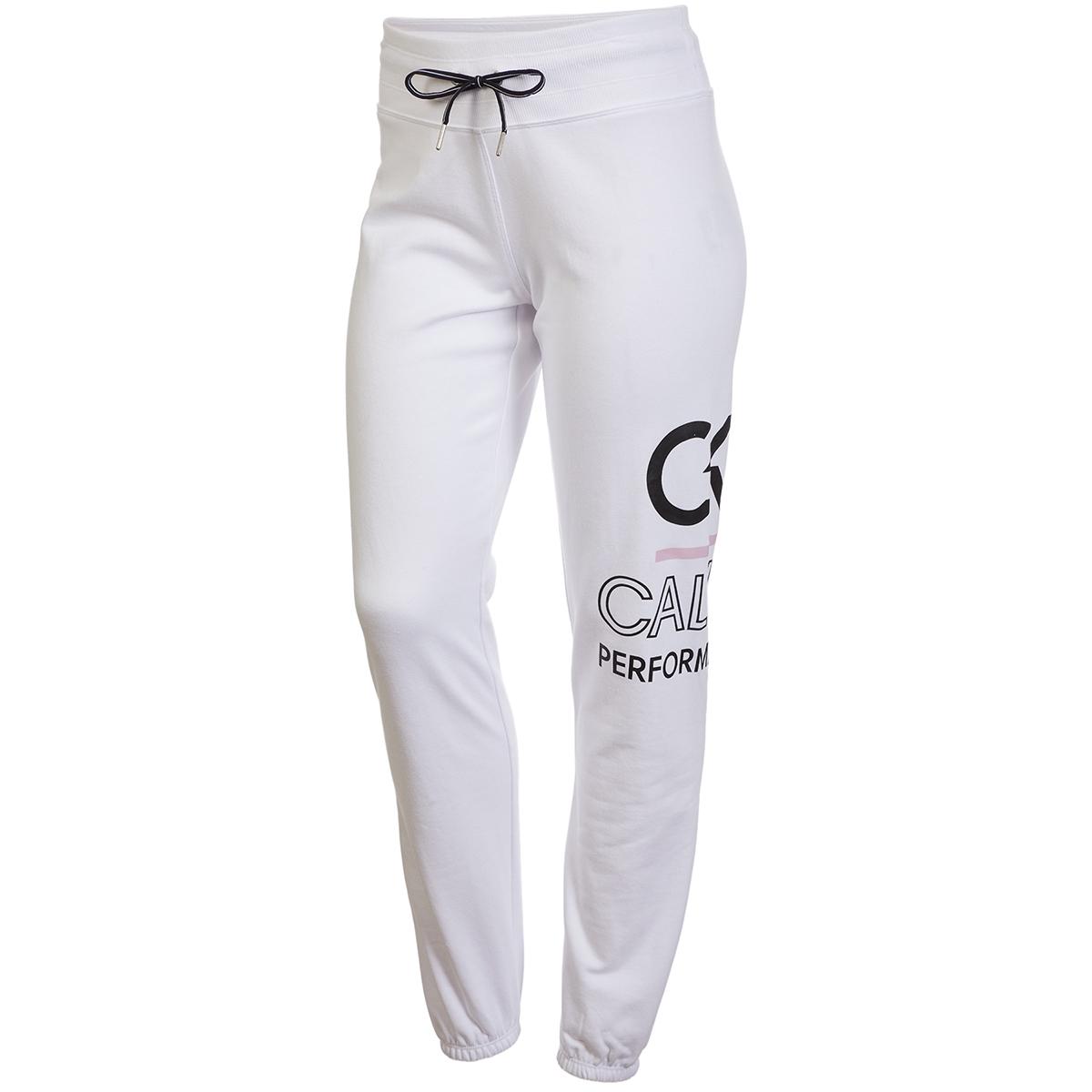 Calvin Klein Performance Women's Icon Logo Drawstring Sweatpants - White, XL