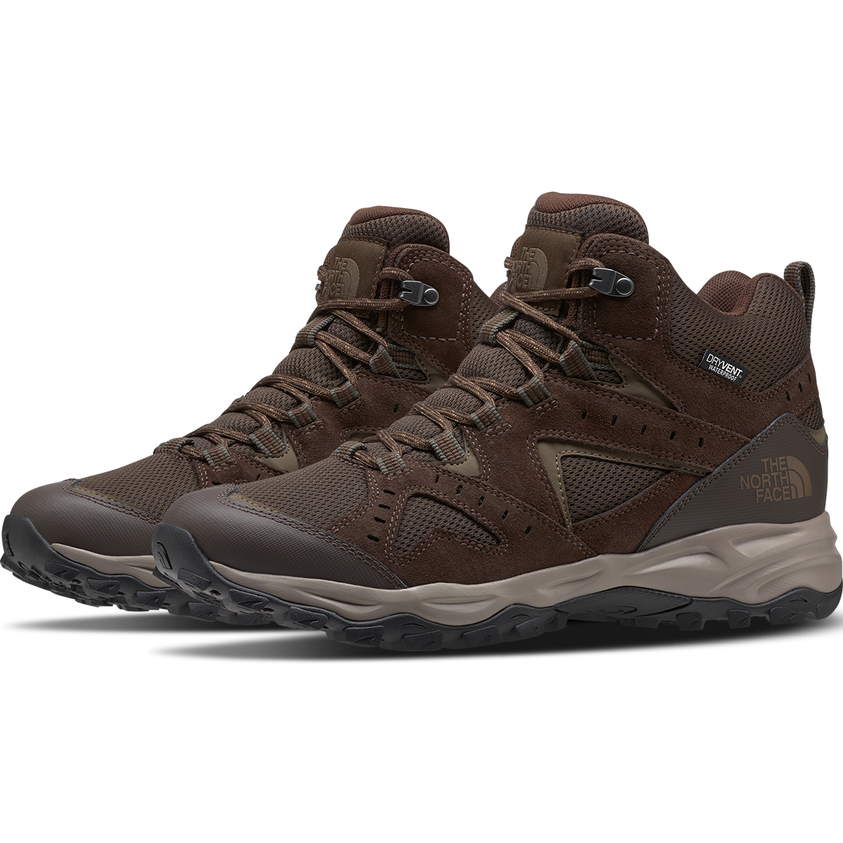 The North Face Men's Trail Edge Waterproof Hiking Shoes - Brown, 10