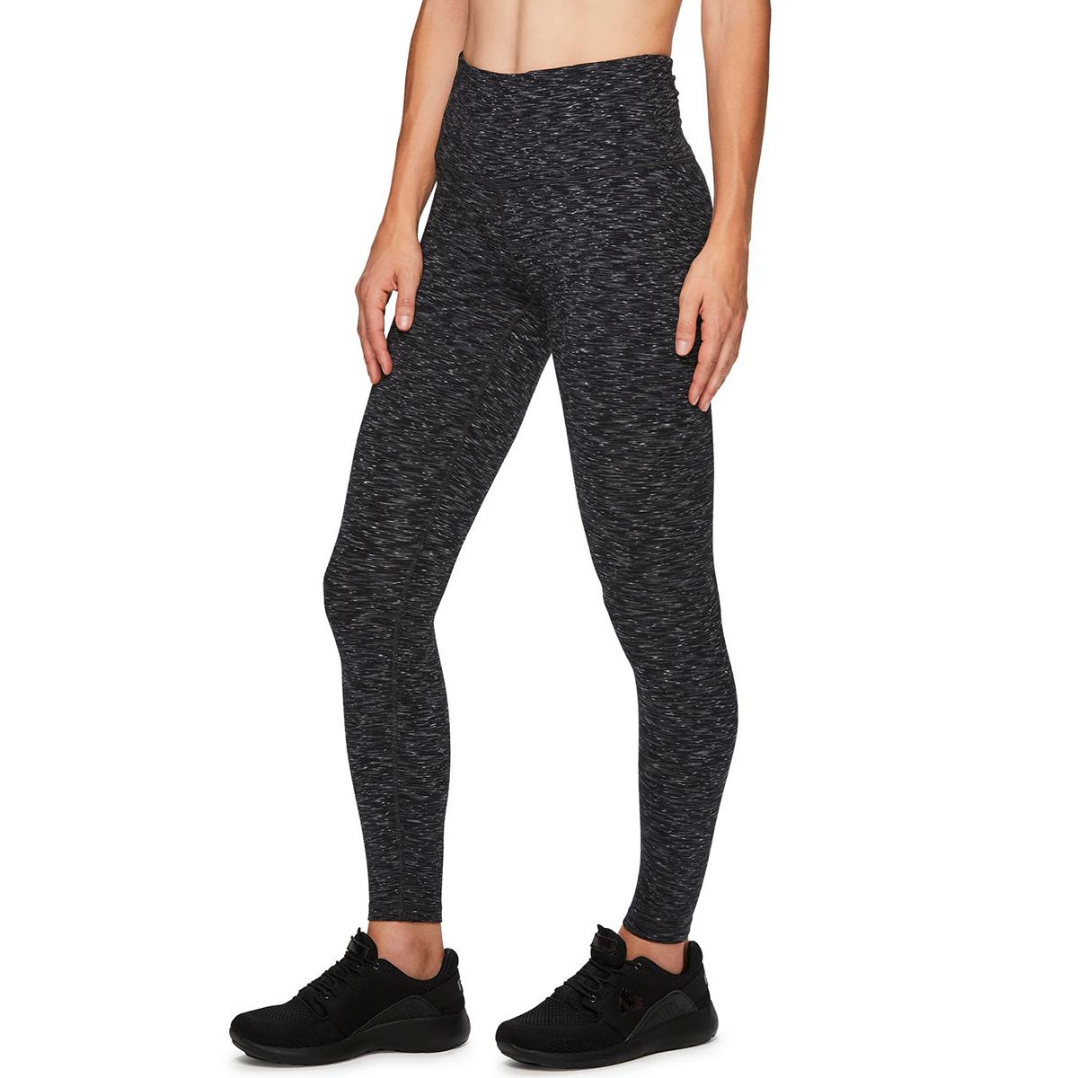 RBX Women's Peached Space Dye Full Length Leggings - Black, L