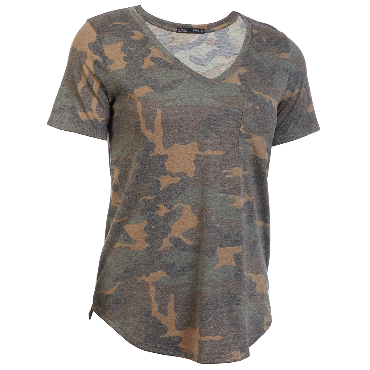 Femme Women's Camo Boyfriend Short-Sleeve Tee - Various Patterns, S