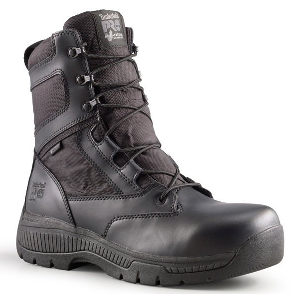 """Timberland Pro Valor Duty Soft Toe 8"""" Boot, Wide - Black, 12"""