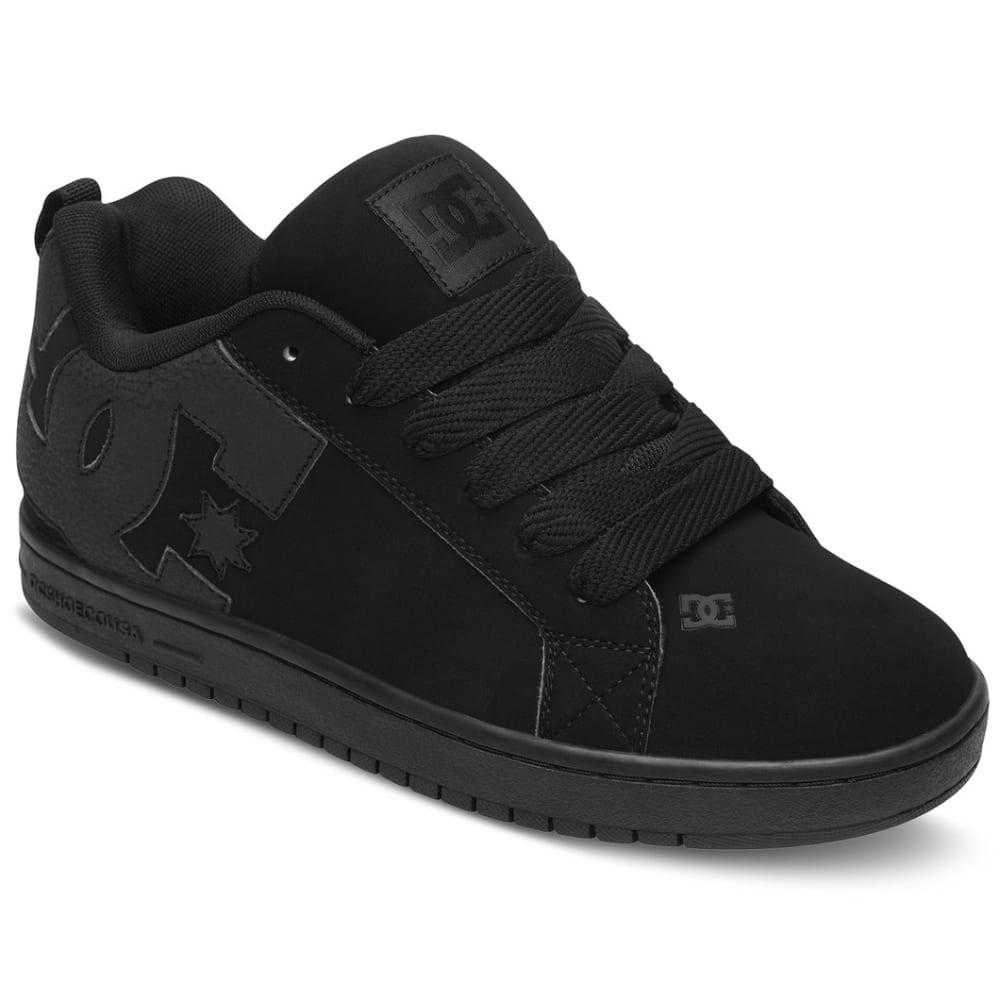 DC Men's Court Graffik Sneaker - Black, 12