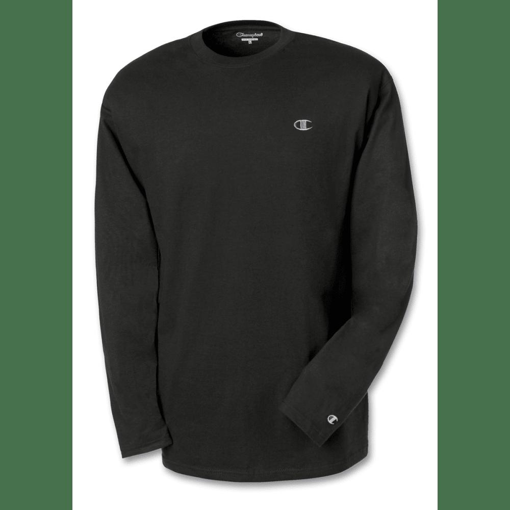 CHAMPION Men's Jersey Long-Sleeve Tee - BLACK-003
