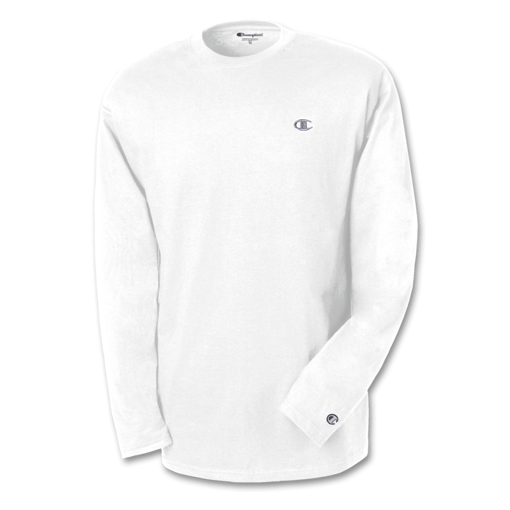 CHAMPION Men's Jersey Long-Sleeve Tee - WHITE-101