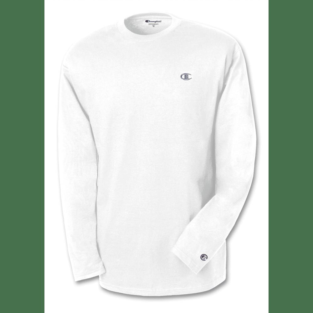 CHAMPION Men's Jersey Long-Sleeve Tee - WHITE-101