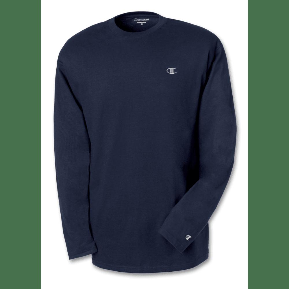 CHAMPION Men's Jersey Long-Sleeve Tee - NAVY-031