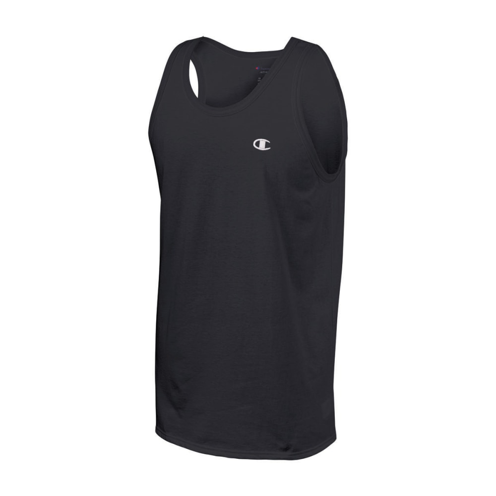 Champion Mens Cotton Ringer Tank - BLACK-003