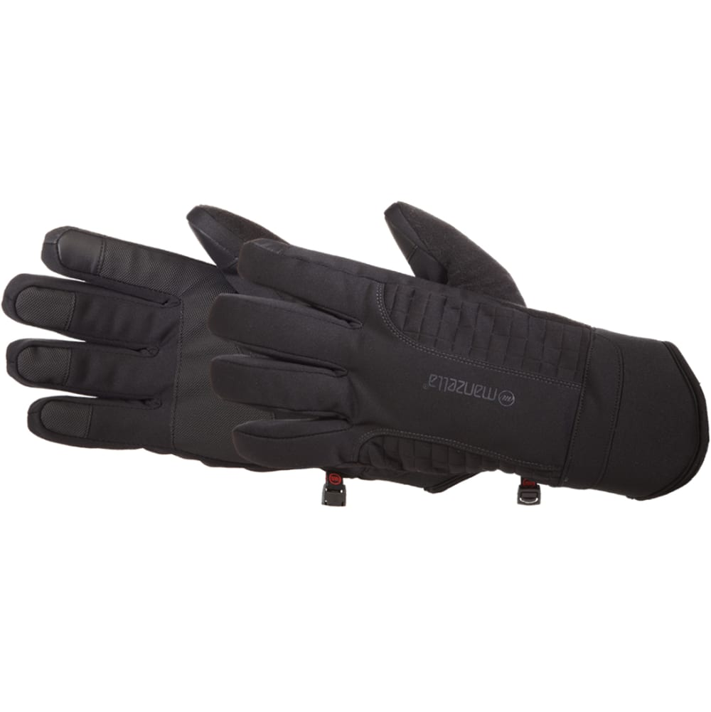 MANZELLA Men's Get Intense Touch Tip Gloves - BLACK