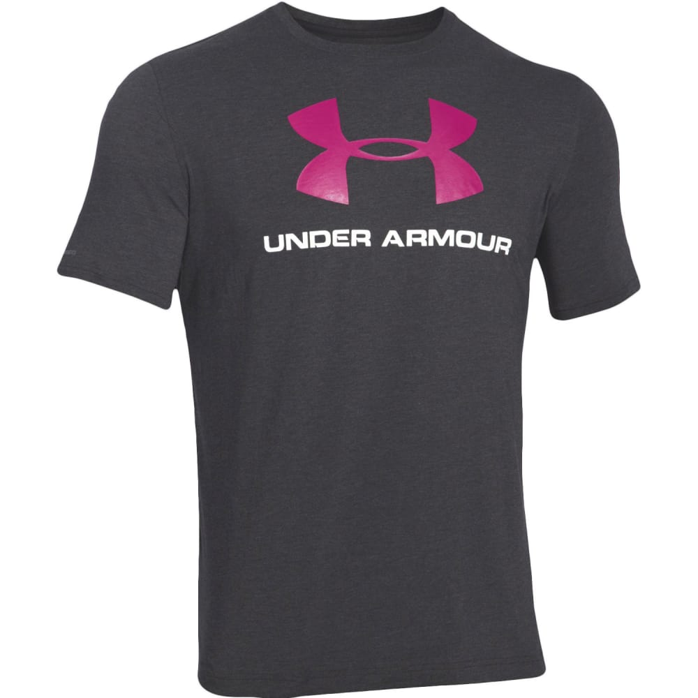 UNDER ARMOUR Men's UA PIP CC Sportstyle Logo Tee - BLACK/TROPICPINK-003
