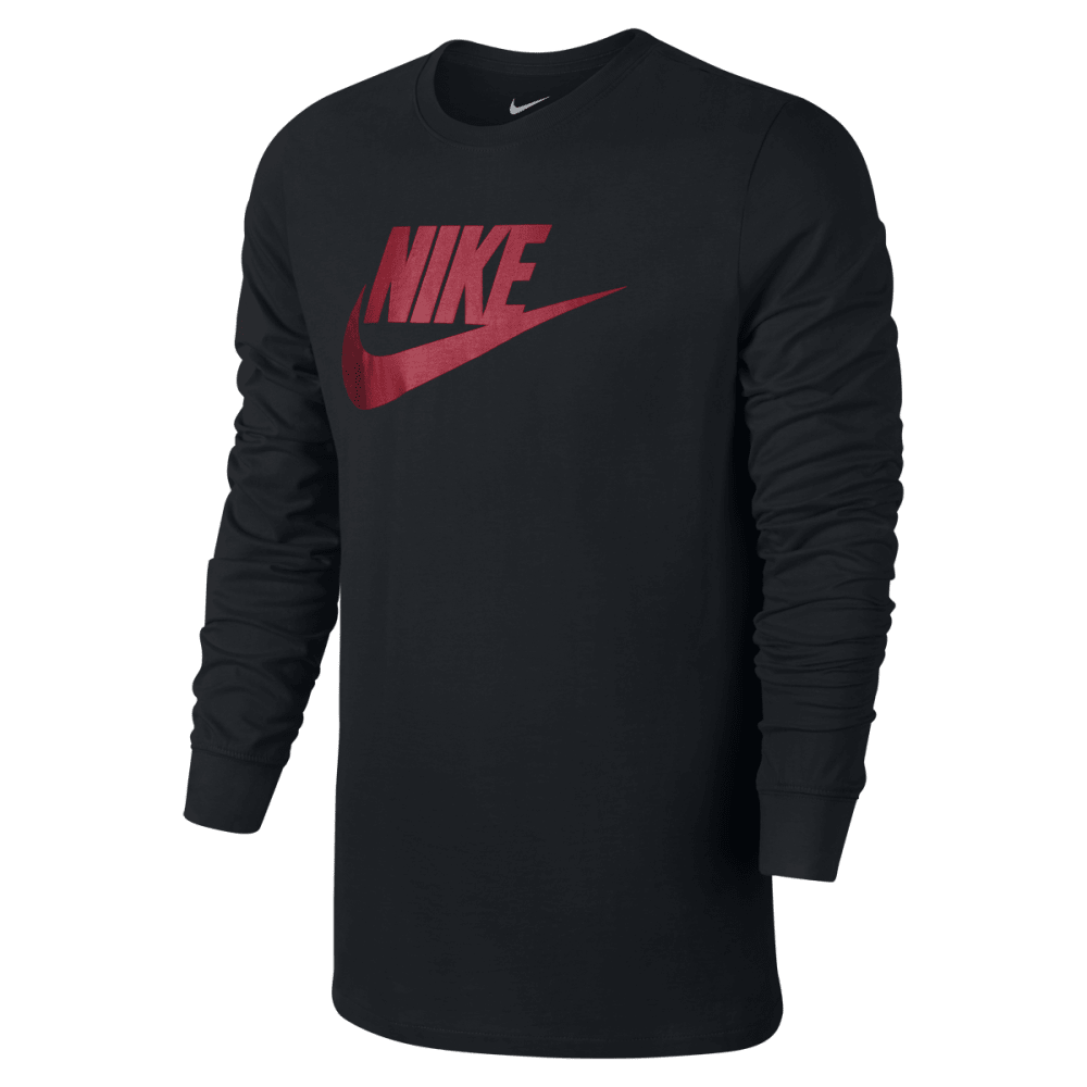 NIKE Men's Futura Icon Long Sleeve Tee - BLACK/WHITE-010