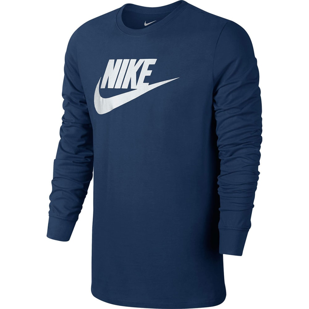 NIKE Men's Futura Icon Long Sleeve Tee - COASTAL BLUE-423