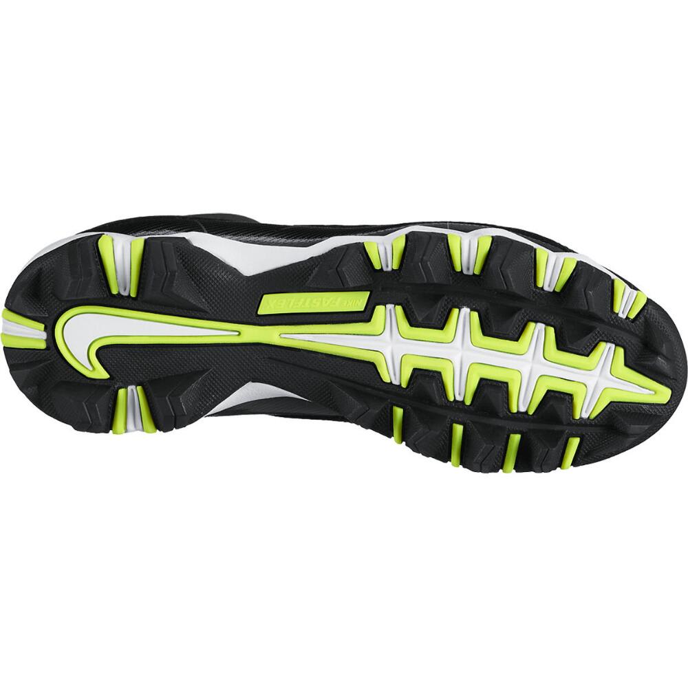NIKE Boys' Alpha Shark 3/4 BG Football Cleats, Wide - BLACK