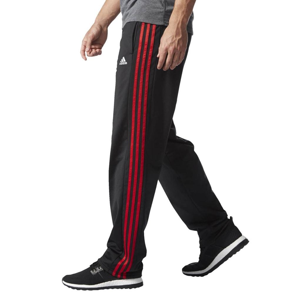 ADIDAS Men's Key 3-Stripes Track Pants - BLACK/SCARLET-S90423