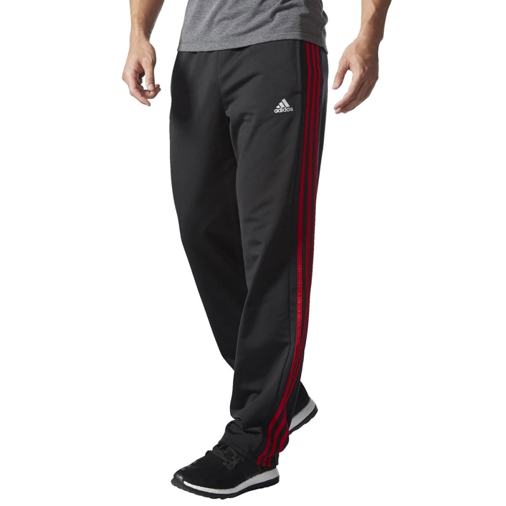 ADIDAS Men's Key 3-Stripes Track Pants - BLACK/SCARLET-S90423