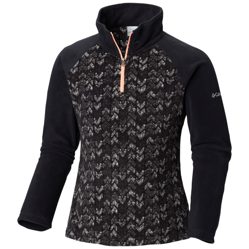 COLUMBIA Girls' Glacial II Fleece Printed Half-Zip - BLACK ARROWS PR -012