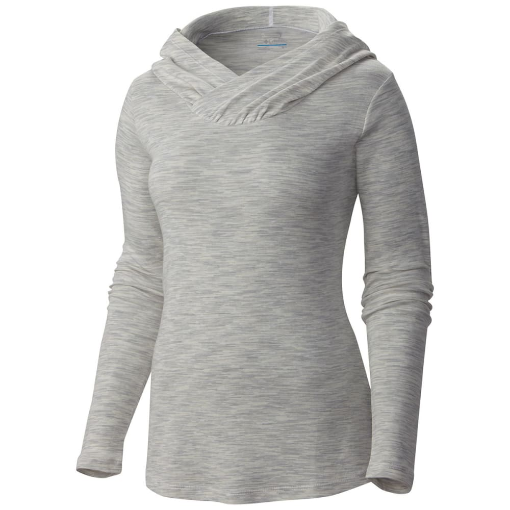 COLUMBIA Women's Outerspaced Knit Hooded Shirt - 100-WHITE