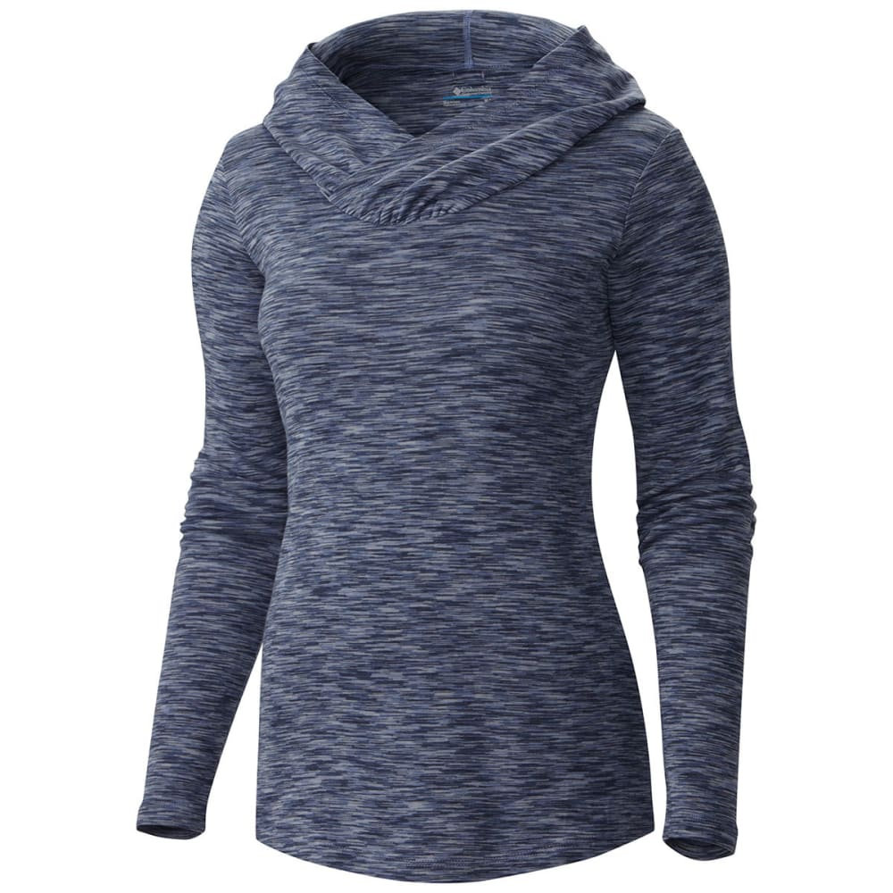 COLUMBIA Women's Outerspaced Knit Hooded Shirt - 508-BLUEBELL