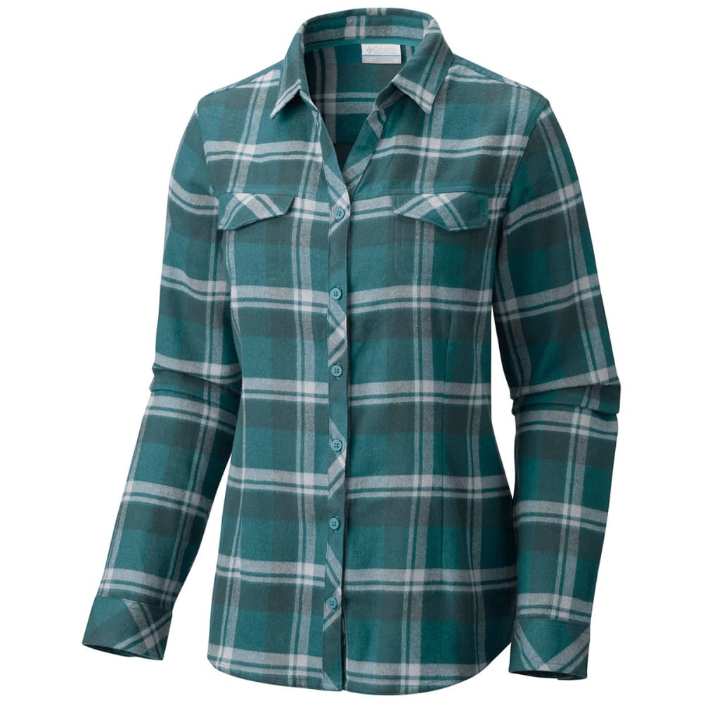 COLUMBIA Women's Simply Put II Flannel Shirt - 336-CLOUDBURST PLAID