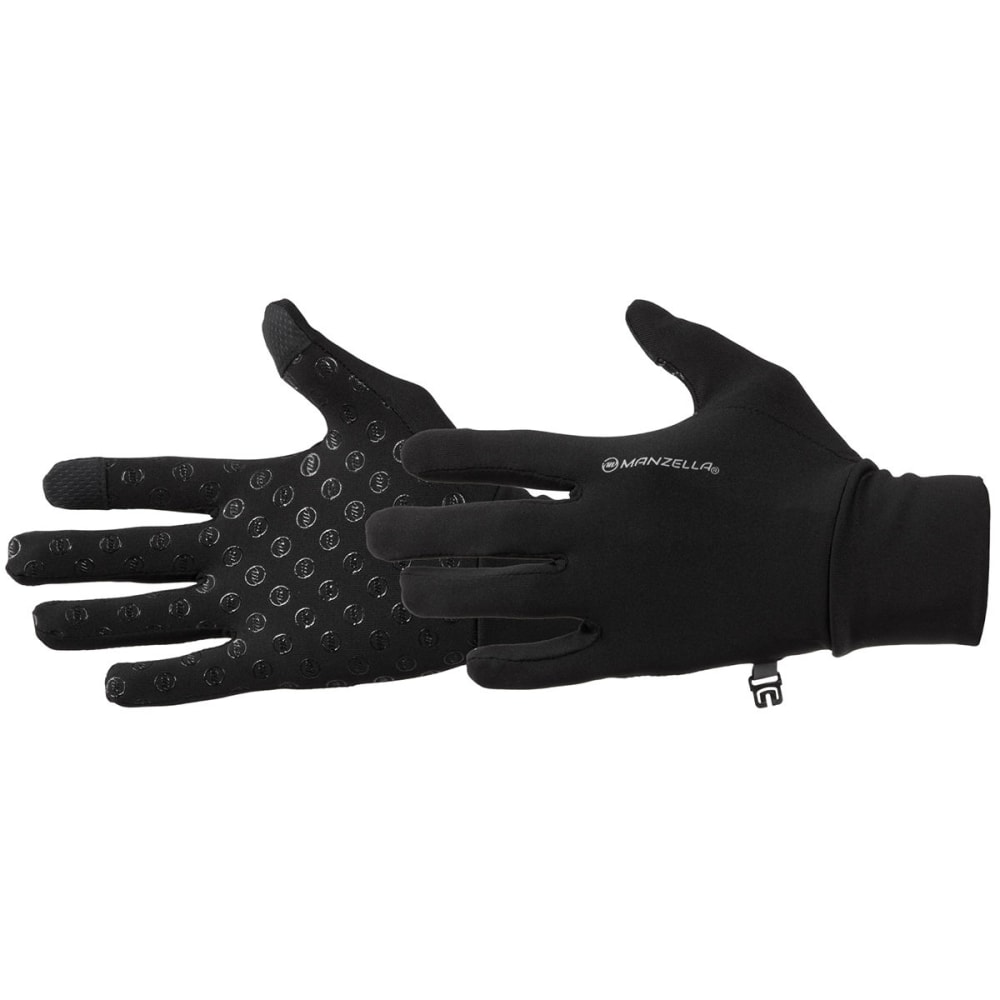 MANZELLA Women's Sprint TouchTip Outdoor Gloves - BLACK