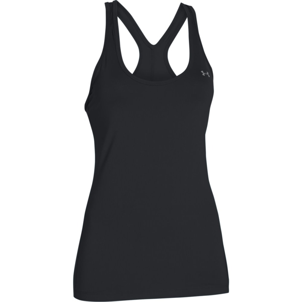 UNDER ARMOUR Women's HeatGear Racer Tank - BLACK-001