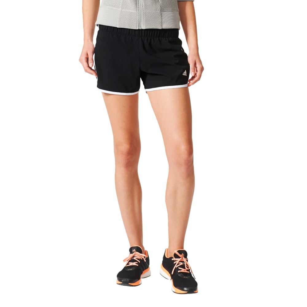 ADIDAS Women's M10 3 Stripe Woven Shorts - BLACK-AI8111