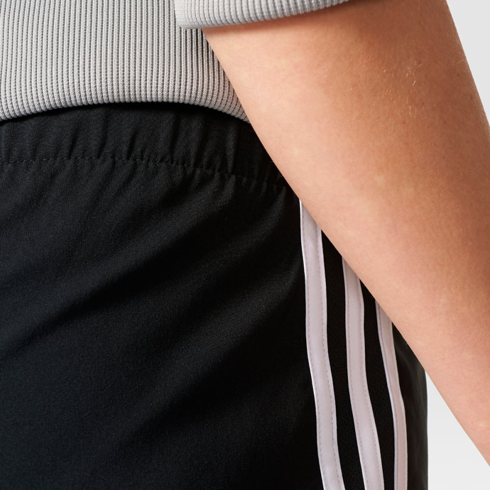 ADIDAS Women's M10 3 Stripe Woven Shorts - BLACK-AI8111