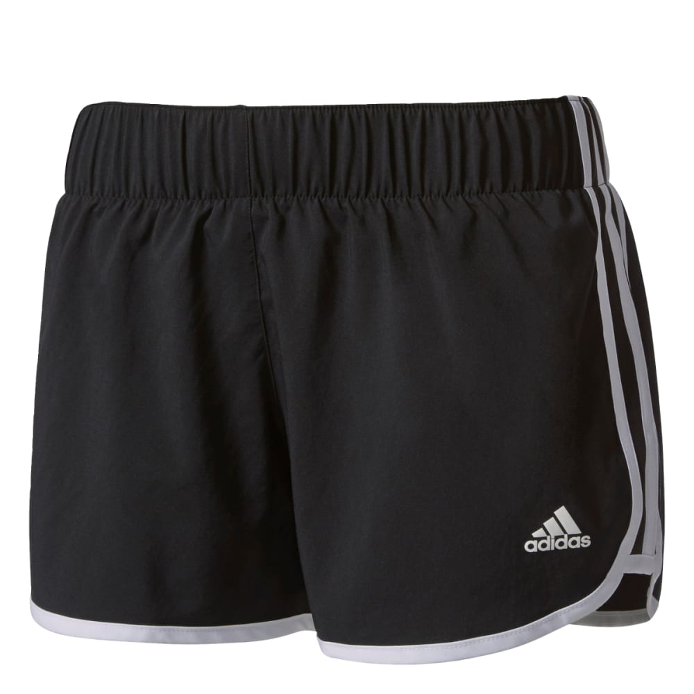 Adidas Women's M10 3 Stripe Woven Shorts - Black, S