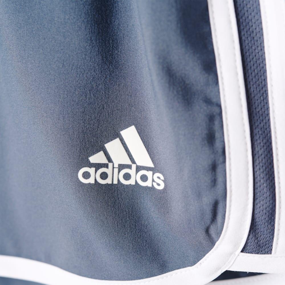 ADIDAS Women's M10 3 Stripe Woven Shorts - ONYX/WHT-AZ0774