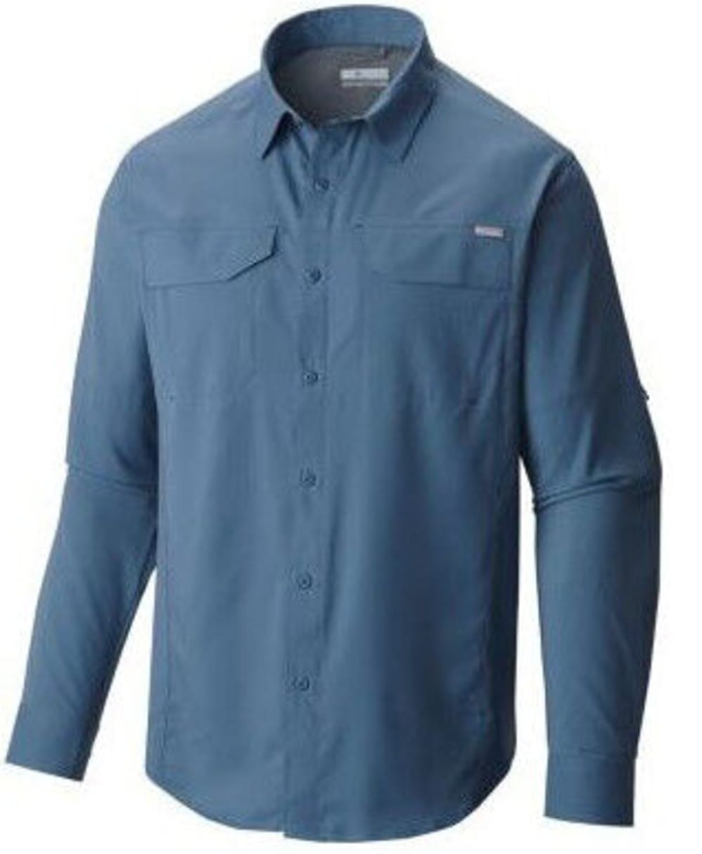 COLUMBIA Men's Silver Ridge Lite Long-Sleeve Trail Shirt - 995-PACIFIC BLUE