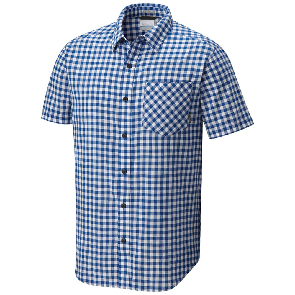 COLUMBIA Men's Katchor II Short-Sleeve Woven Shirt - AZUL SM CHK-437