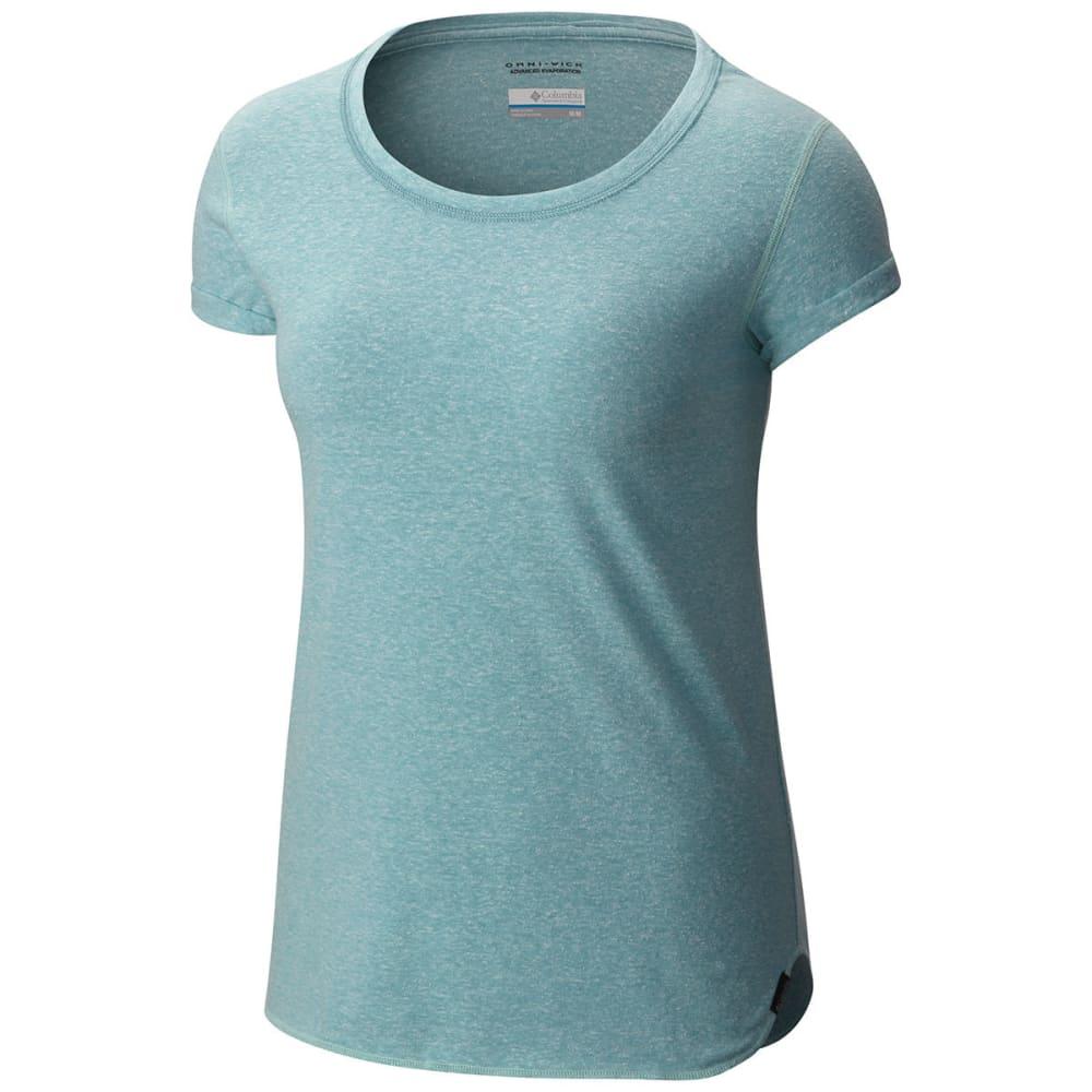 COLUMBIA Women's Trail Shaker Short-Sleeve Shirt - 341-ICEBERG HTHR